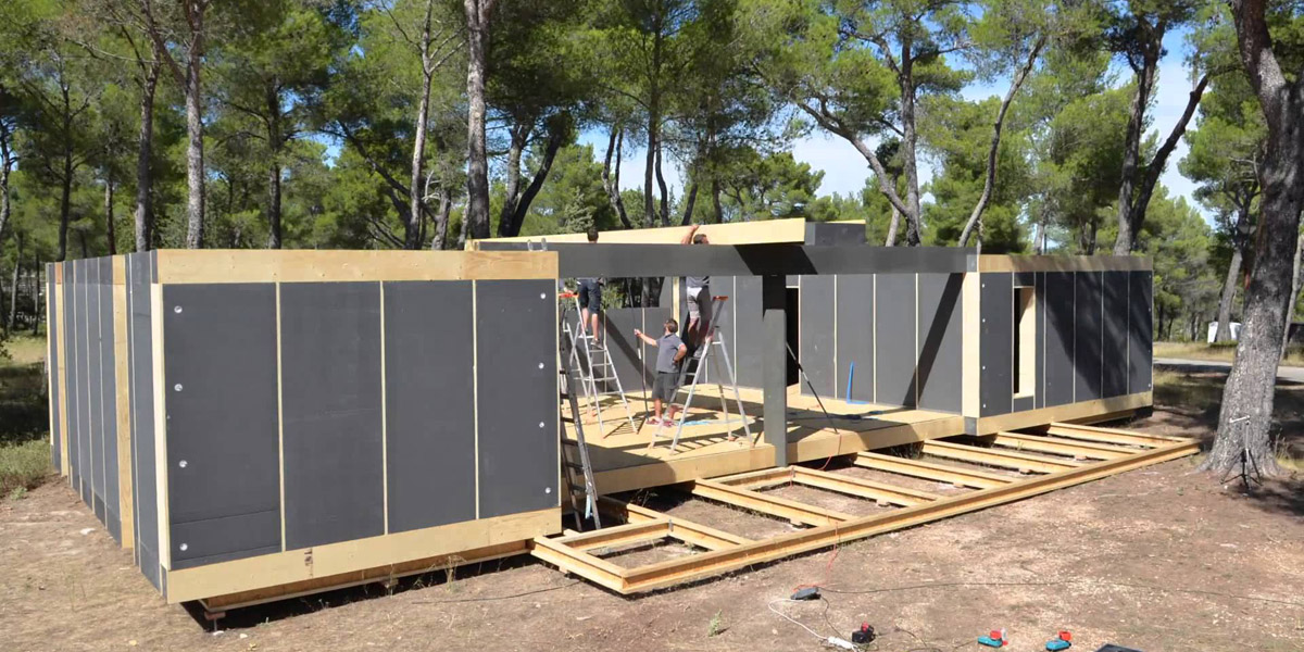 Modle bouwsysteem Popup House