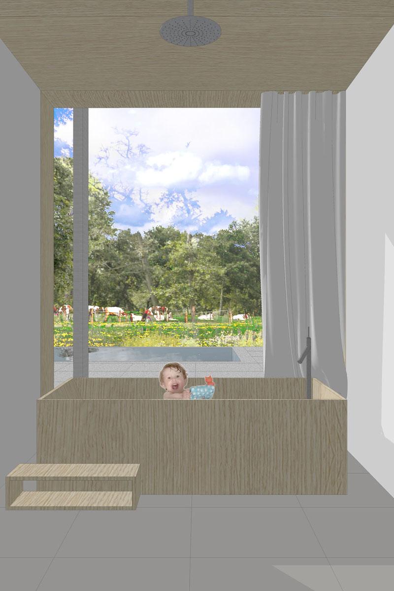 woning-badkamer-bad-uitzicht-tuin-Modle
